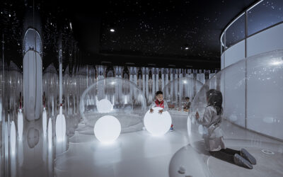 Interiores divertidos para niños: un restaurante en China