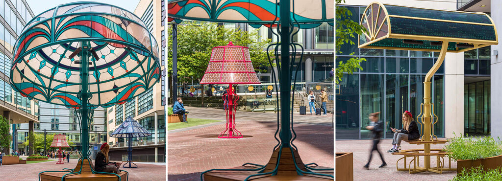 Three supersized classic design lamps in Manchester