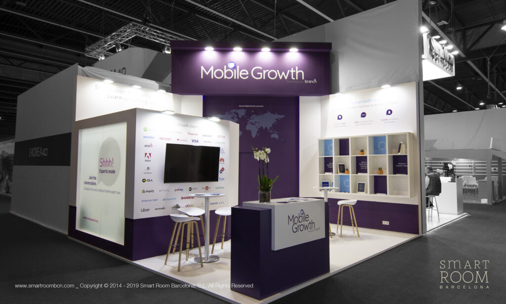 Stand for Branch at MWC by Smart Room Barcelona