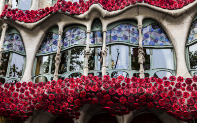 An Ephemeral Installation for the Day of Books and Roses
