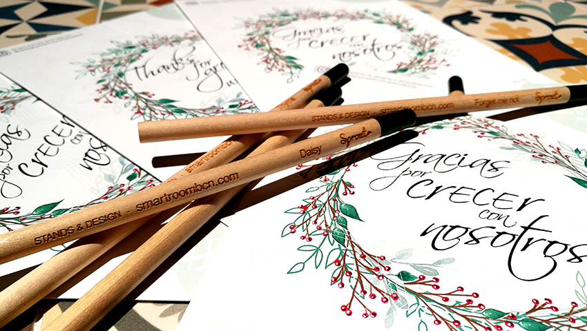 """Our message for Christmas: """"Thanks for Growing with Us!"""""""