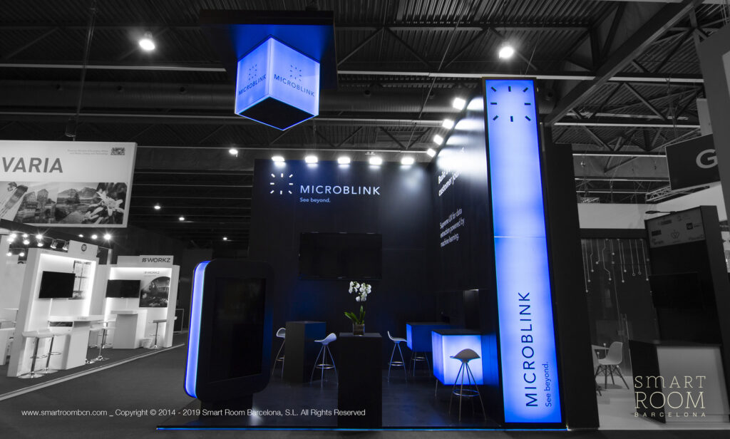 Stand for Microblink at MWC by Smart Room Barcelona