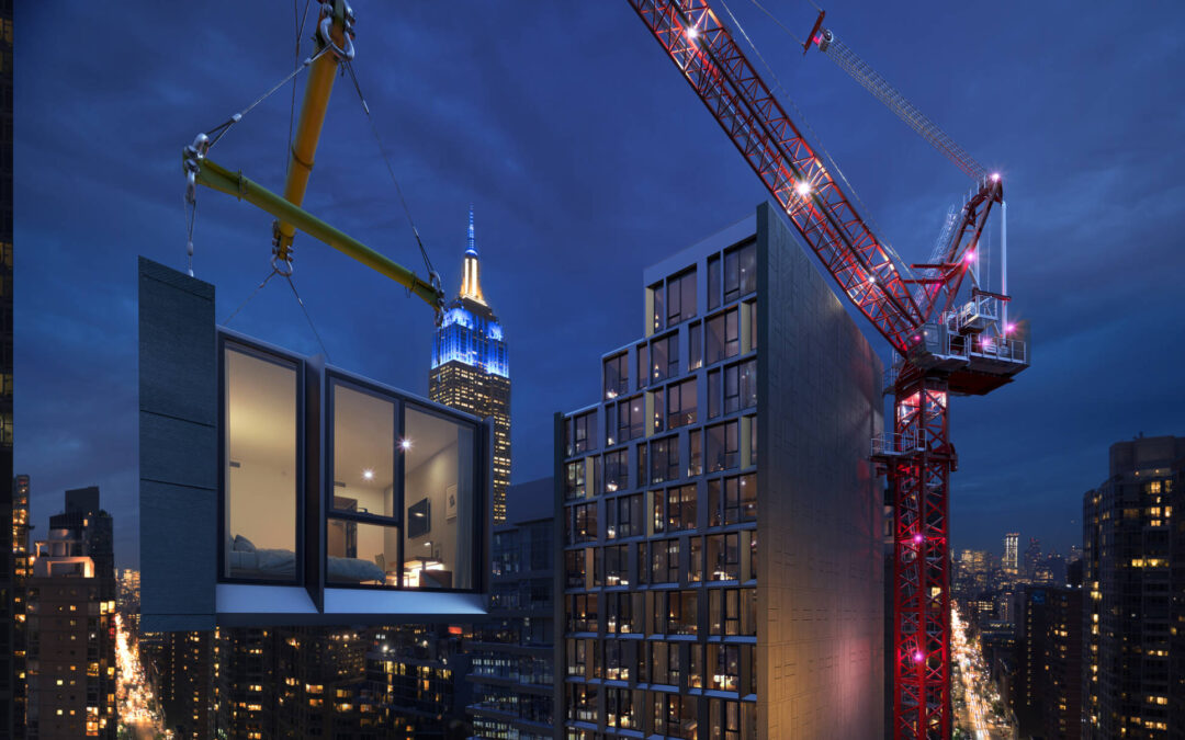 The Highest Prefabricated Modular Hotel is Built in New York