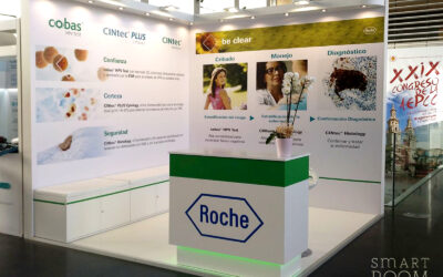 Smart Room Barcelona delivers Roche stand at AEPCC