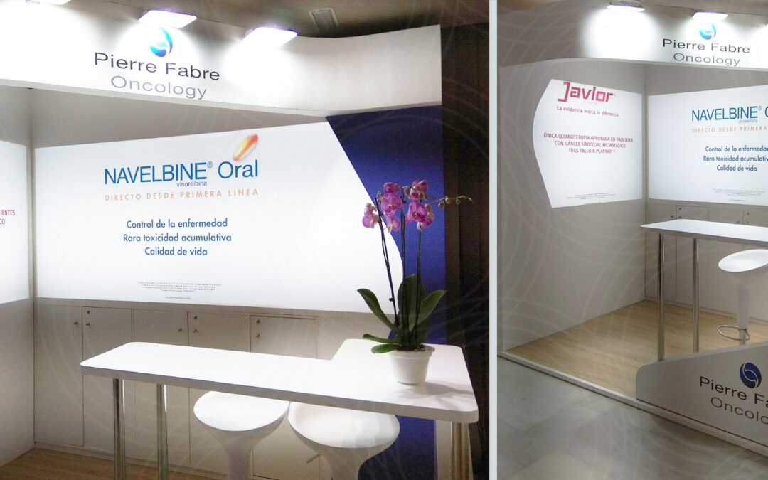 A bright and soft booth for Pierre Fabre Oncology