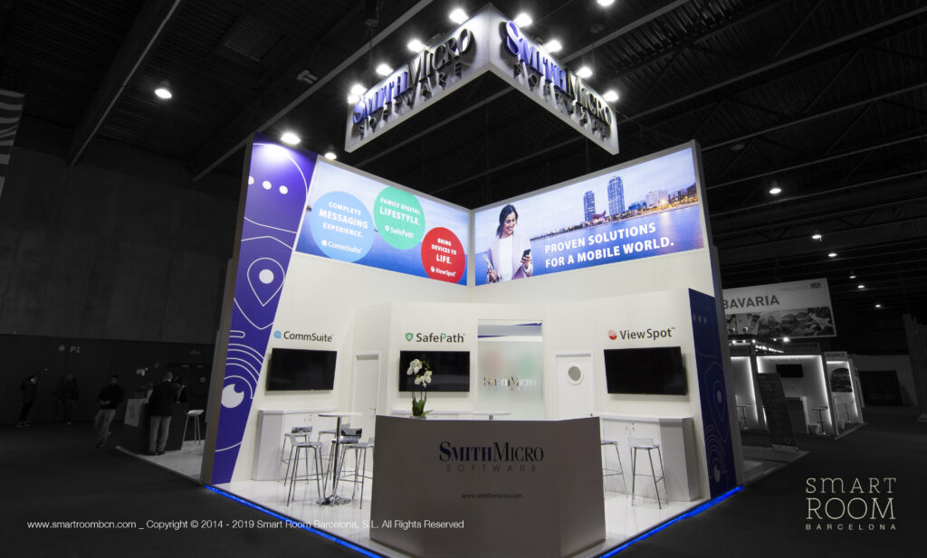 Stand for Smith Micro at MWC by Smart Room Barcelona