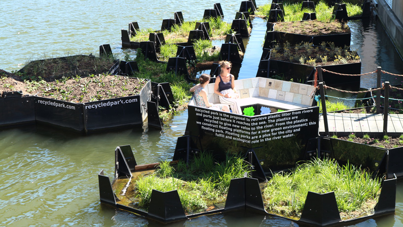 """""""Recycled Island"""": a design project made from plastic waste in Rotterdam"""