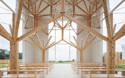 Nature-based designs: a Japanese chapel made of tree-like structures